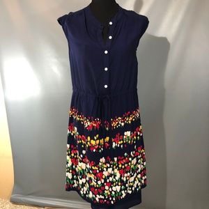 Old Navy Blue Shirt Dress with Cinched Waist M